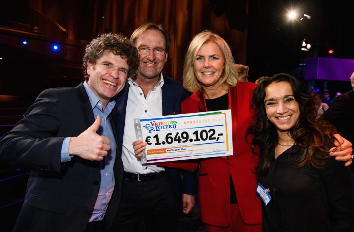 VriendenLoterij schenkt Het Vergeten Kind maar liefst € 1.649.102