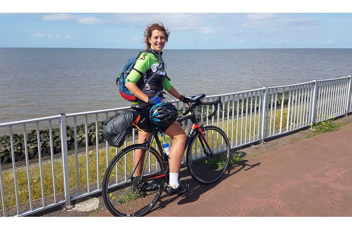 Emotionele ochtend voor Nina, nog 62 km te fietsen!