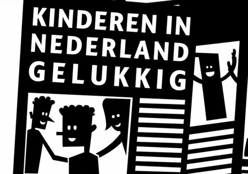 Gelukkige kinderen in Nederland